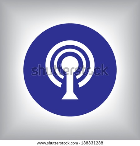Wireless Network Symbol of wifi icon, vector illustration. Flat design style