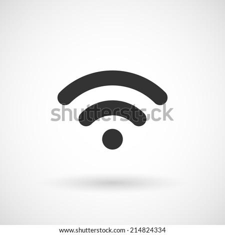 Wireless Network Symbol. Vector illustration. - stock vector