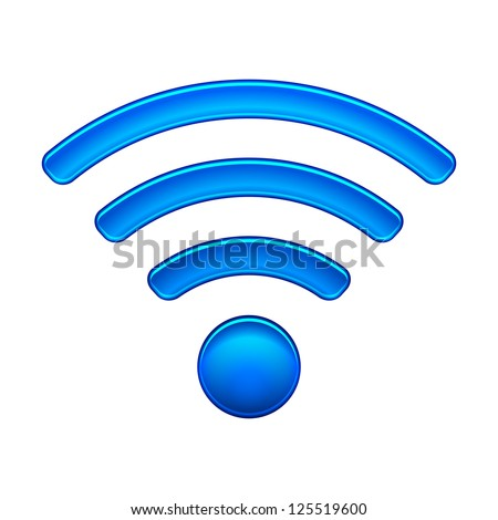 Wireless Network Symbol wifi icon vector illustration isolated on white - stock vector