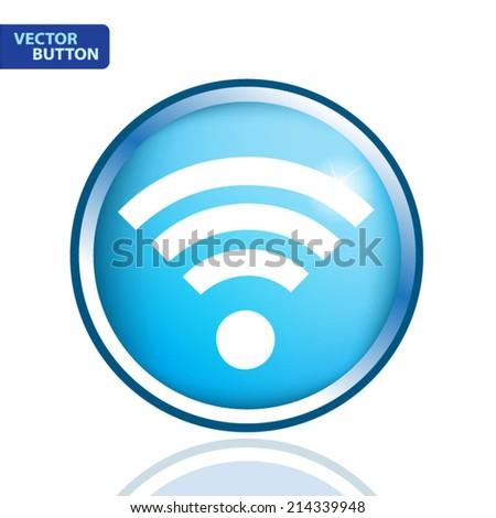 Wireless Network wifi icon, vector illustration - stock vector