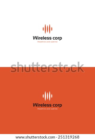 Wireless provider company logo teamplate. - stock vector