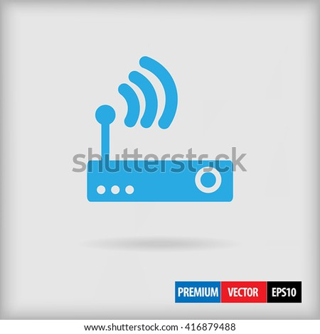 Wireless router icon, wireless router vector, wireless router art, wireless router illustration, wireless router design, wireless router graphic, wireless router image, wireless router eps, wireless  - stock vector