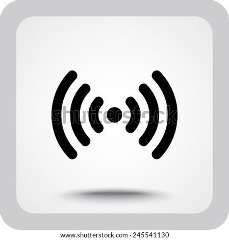 Wireless sign icon, vector illustration. Flat design style  - stock vector