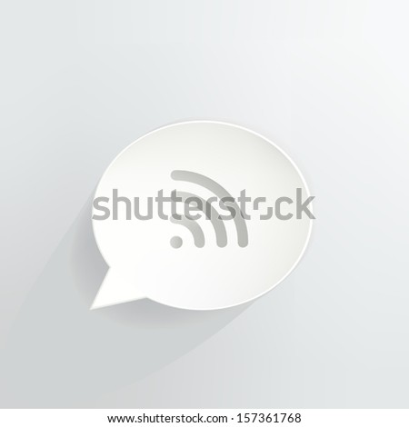 Wireless Signal Speech Bubble Icon - stock vector