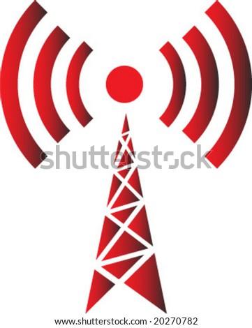 wireless simbol - stock vector