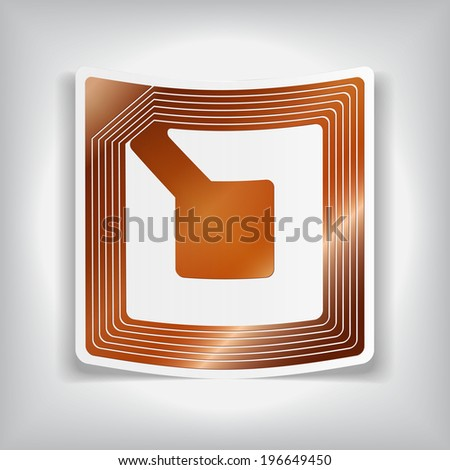 wireless tag used for RFID purposes, Vector graphic - stock vector
