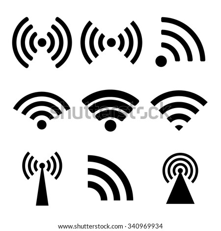 Wireless technology. Flat design style eps 10 - stock vector