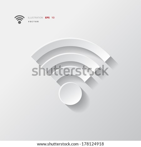 Wireless web icon - stock vector