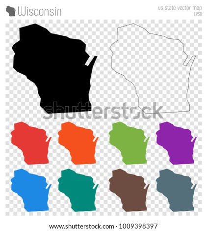 Wisconsin Outline Stock Images RoyaltyFree Images Vectors - Us Map With States Outlined Vector