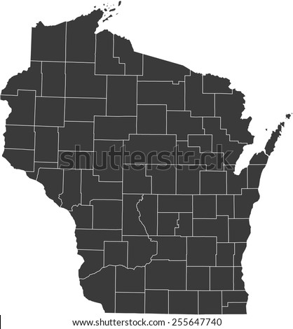 Wisconsin Map Stock Images RoyaltyFree Images Vectors - Wiscinsin map