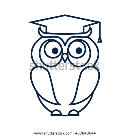 Owl Isolated On White Background Vector Stock Vector 320180060 ...