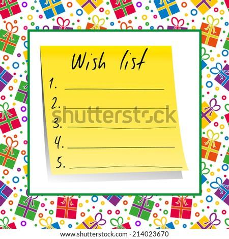 Wish List - stock vector
