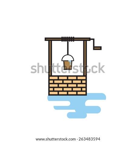 Wishing well vector illustration. - stock vector
