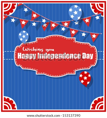 wishing you happy independence day greeting background