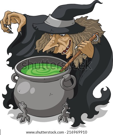 Witch Black Cauldron Stirring Stock Images, Royalty-Free Images ...