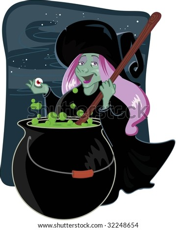 witch with calderon
