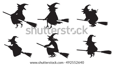Witches silhouette