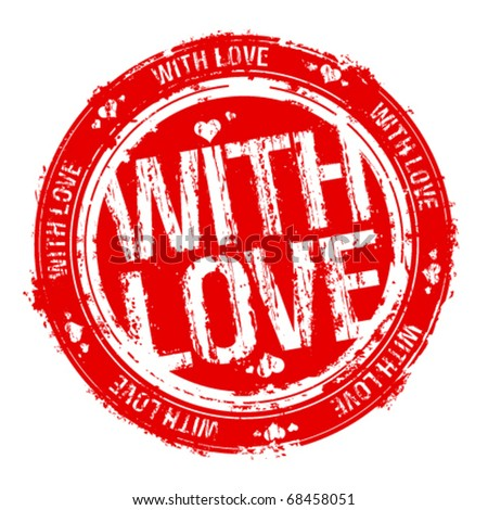 With love vector rubber stamp. - stock vector