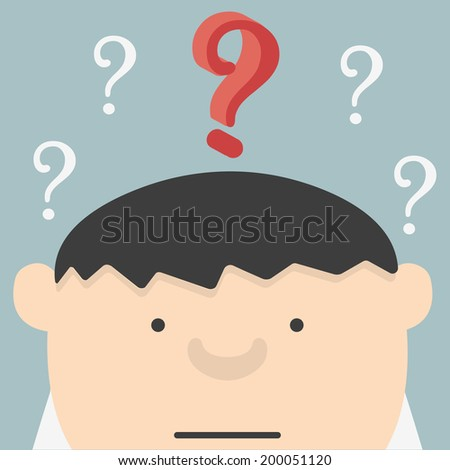 with question 2.5D - stock vector