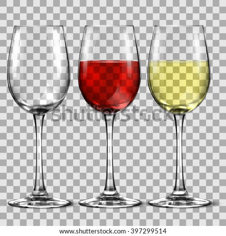 with wine glass - stock vector