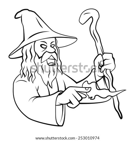 Wizard  - stock vector