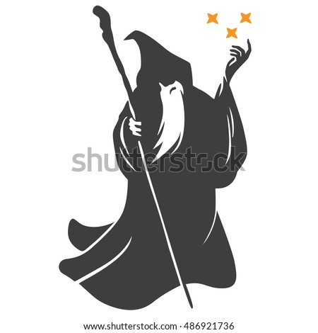 wizard cartoon character design vector stock vector Magic Hat Cartoon Magic Wand Clip Art