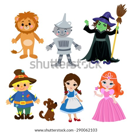 Wizard of Oz, vector illustration cartoon.