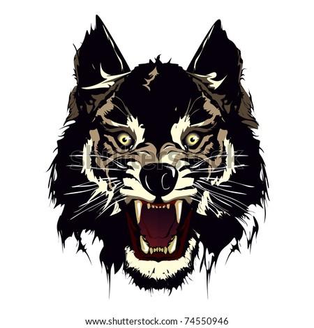 wolf - stock vector