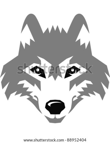 Wolf Head Clipart Black And White