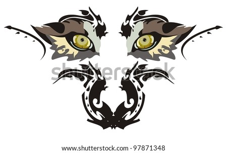 Wolf eyes - stock vector