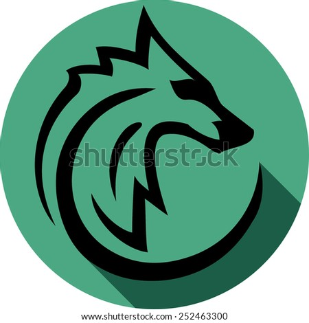 wolf icon  - stock vector