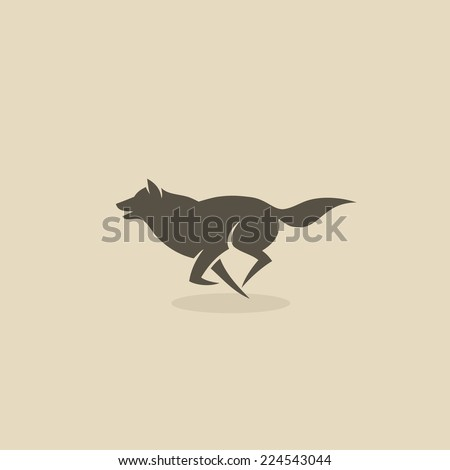 Wolf icon - vector illustration - stock vector