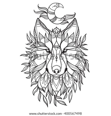 Tribal Wolf Stock Images Royalty Free Images Amp Vectors