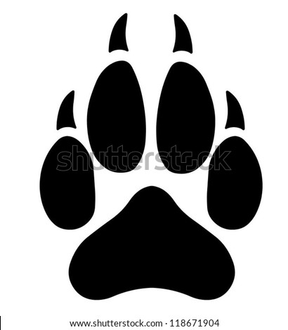 Wolf Paw Logo Wolf Paw Stock Vector