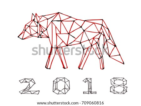 stock-vector-wolf-polygon-art-hand-draw-