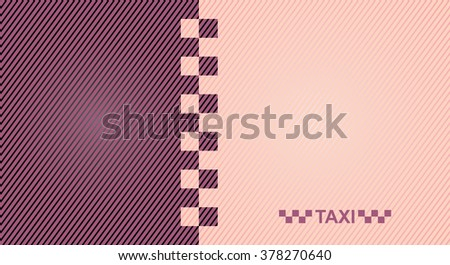 Woman business cards taxi - vector 10eps, women's pink taxi. - stock vector