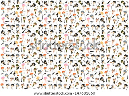 Woman Character Background - Vector