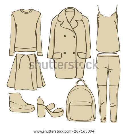 Woman clothing - stock vector