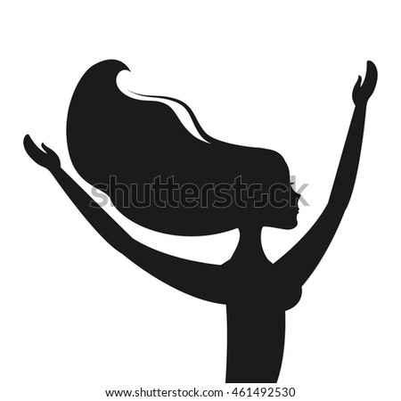 woman dancing silhouette icon vector isolated graphic