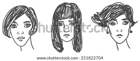 woman, different characters and images - stock vector