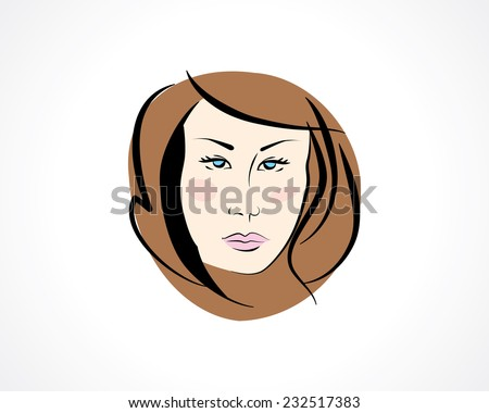 woman face colored