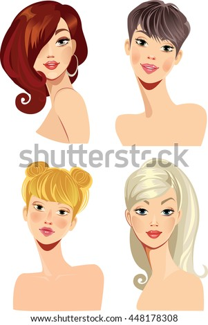 woman face with hairstyling