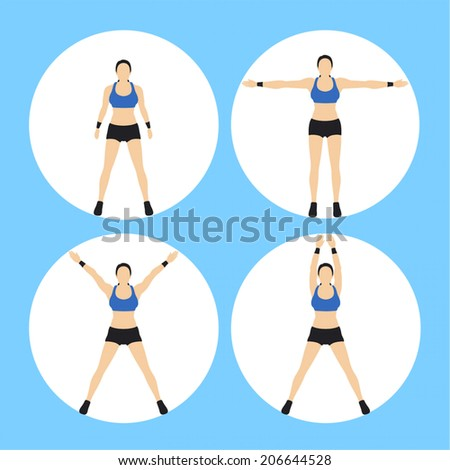 Woman Fitness Vector - stock vector