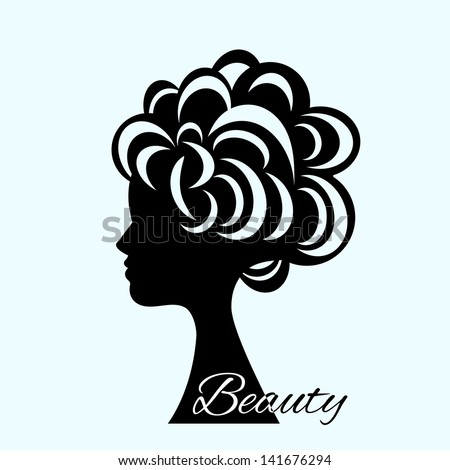 Woman hair beauty icon