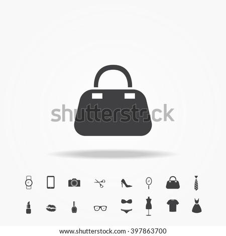 woman hand bag icon - stock vector