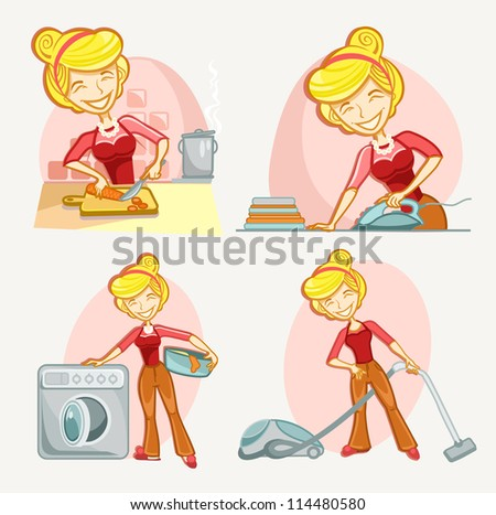 woman housekeeping