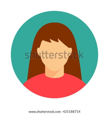 woman  icon vector illustration isolated in a flat style - stock vector