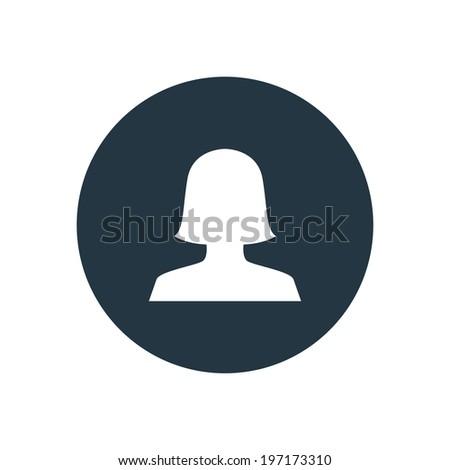 Woman Icon Vector. Woman Icon Symbol. Woman Icon Picture. Woman Icon Image. Woman Icon Shape. Woman Icon Sign. Woman Icon Digital. Woman Icon Picture profile icon - stock vector