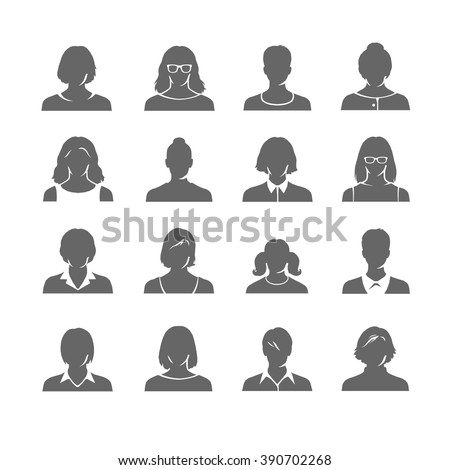 woman icons - stock vector