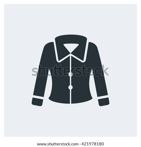 Woman jacket Icon, Woman jacket Icon Eps10, Woman jacket Icon Vector, Woman jacket Icon Eps, Woman jacket Icon Jpg, Woman jacket Icon Picture, Woman jacket Icon Flat, Woman jacket Icon App - stock vector